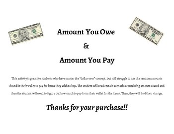 Amount You Owe & Pay