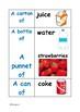Amounts of food flashcards