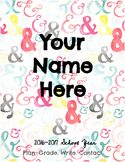 Ampersand Confetti Lesson Plan Book: Plan in Style