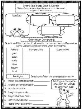 Amphibian Alert! (Skill Practice Sheet)