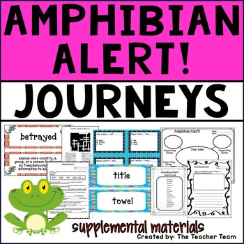 Amphibian Alert! Journeys 4th Grade Unit 6 Lesson 27 Activities and Printables