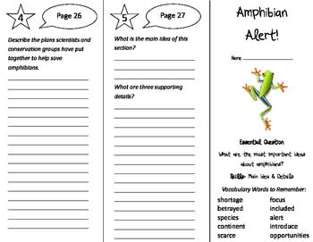 Amphibian Alert! Trifold - Journeys 4th Grade Unit 6 Week 2 (2011)