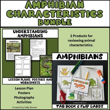 Amphibian Bundle - Lesson Plan, Photos, Worksheets and Activities