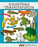 Amphibian Characteristics Clip Art