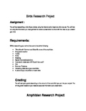 Amphibian and Bird Research Projects