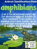 Amphibians - Animal Classifications Pack - Posters & Noteb
