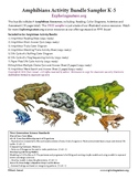 Amphibians FREE Activity Bundle - Sampling