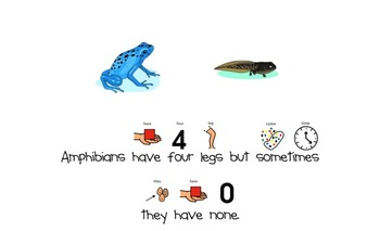 Amphibians Mini-Book (For Students with Autism & Communication Disorders)