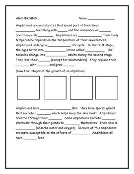 Amphibians Note taking Guide
