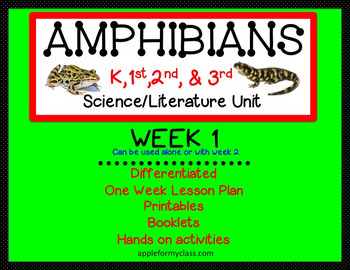 Amphibians Unit for K-3 week 1