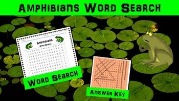 Amphibians Word Search Activity