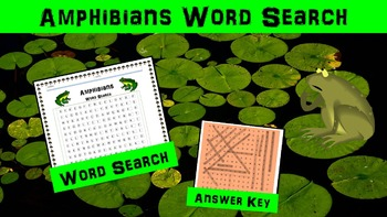 Amphibians Word Search Activity