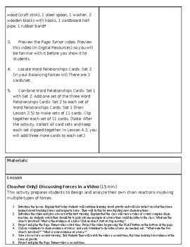 Amplified Science Grade 3 Lesson 3.3 Observing Forces in Chain Reactions