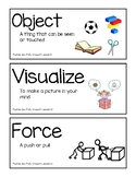 Amplify Kindergarten Vocabulary/Ch Questions Unit 2: Pushes and Pulls