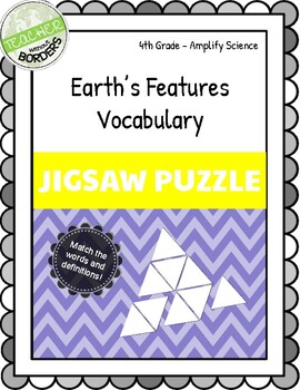 Amplify Science Earth's Features Vocabulary Jigsaw