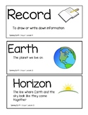 Amplify Science Grade 1 Unit 3 Vocabulary w/ Pics, Chapter Questions, & Cards