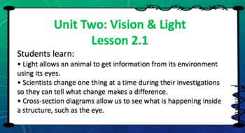 Amplify Science Grade 4: Unit 2 Vision&Light Chapter 2 (Lessons 1-5)