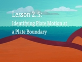 Amplify Science Plate Motion: Lesson 2-5 (Identifying Plate Motion.....)