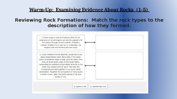 Amplify Science Rock Transformations: Lesson 1-5 (Examining Evidence About Rock)