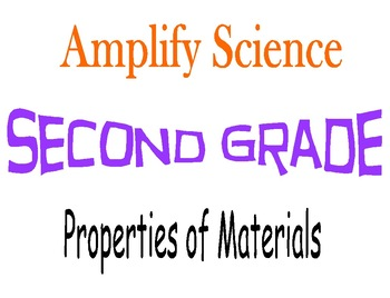 Amplify Science Second Grade Unit 2 Chapters 3 & 4