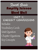 Amplify Science Unit 1 Energy Conversions Focus Wall