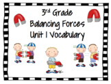Amplify Science Vocabulary Words Balancing Forces Grade 3