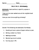 Amplify Word Work: Aimless