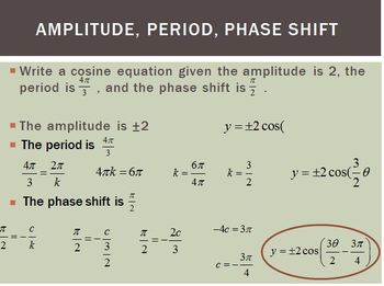 Amplitude, Period, and Phase Shift (PP)