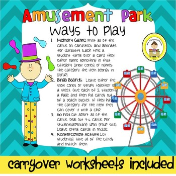 Amusement Park Speech Therapy Antonyms
