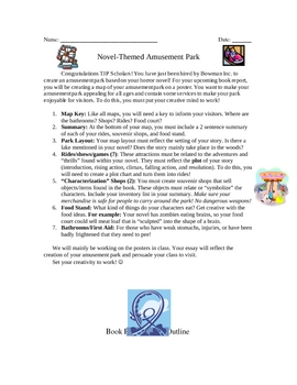 Amusement Park Book Report Format  for Horror or Any Other Genre