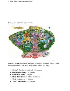 Amusement Park Classroom Activity