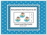 Amusement Park Counting to 20, Count and Clip, Summer School, Math Centers