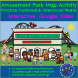 Amusement Park Map Activity: Following Directions Using Positional Words