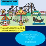 Amusement Park Money Math PowerPoint - Distance Learning