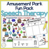Amusement Park Speech Therapy Theme Fun Pack   Roller Coas