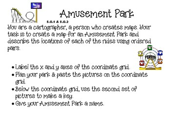 Print & Go Amusement Park Task/Activity