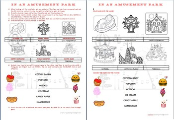 Amusement Park vocabulary for kids with pictures