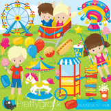 Amusement park clipart commercial use, graphics, digital clip art, fair - CL866