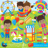 Amusement park clipart commercial use, graphics, digital clip art, fair - CL894