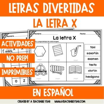 Las letras W, X & Y -Pack del Alfabeto