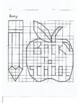 Quadrant 1 Coordinate Graph Mystery Picture, Amy Apple Back to School