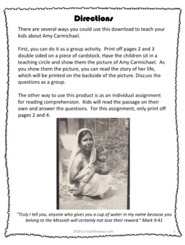 image regarding Free Printable Missionary Stories identified as Amy Carmichael Christian Missionary toward India