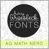 Amy Groesbeck Fonts: AG Math Nerd