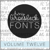 Amy Groesbeck Fonts - Volume Twelve
