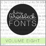 Amy Groesbeck Fonts: Volume Eight