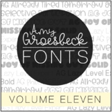 Amy Groesbeck Fonts: Volume Eleven