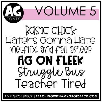 Amy Groesbeck Fonts: Volume Five
