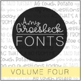 Amy Groesbeck Fonts: Volume Four