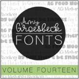 Amy Groesbeck Fonts - Volume Fourteen