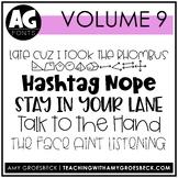 Amy Groesbeck Fonts: Volume Nine
